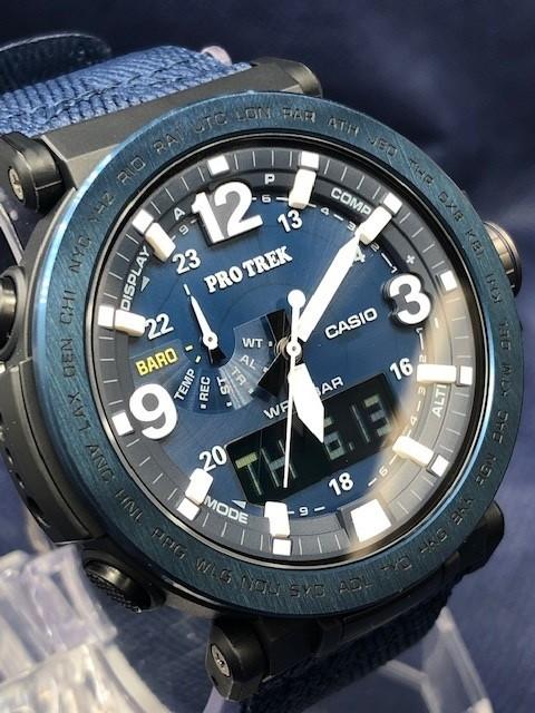 新品 カシオ CASIO 腕時計 プロトレック NAVY BLUE SERIES ブルーシリーズ メンズ ソーラー クォーツ カレンダー ナイロンベルト