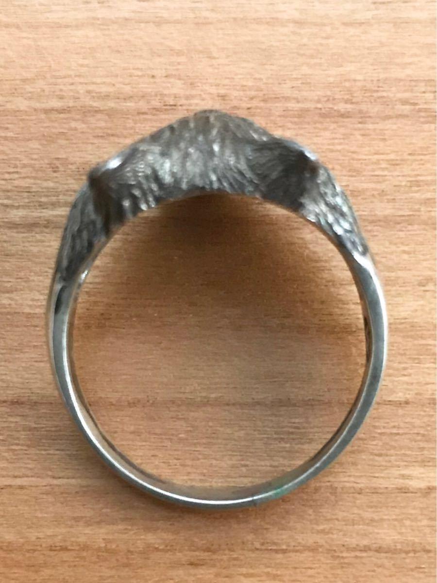 猫 ネコ キャット CAT シャム 動物 アニマル シルバー silver 銀製 925 スターリング ペンダント ネックレス トップ ヘッド リング 指輪_画像6