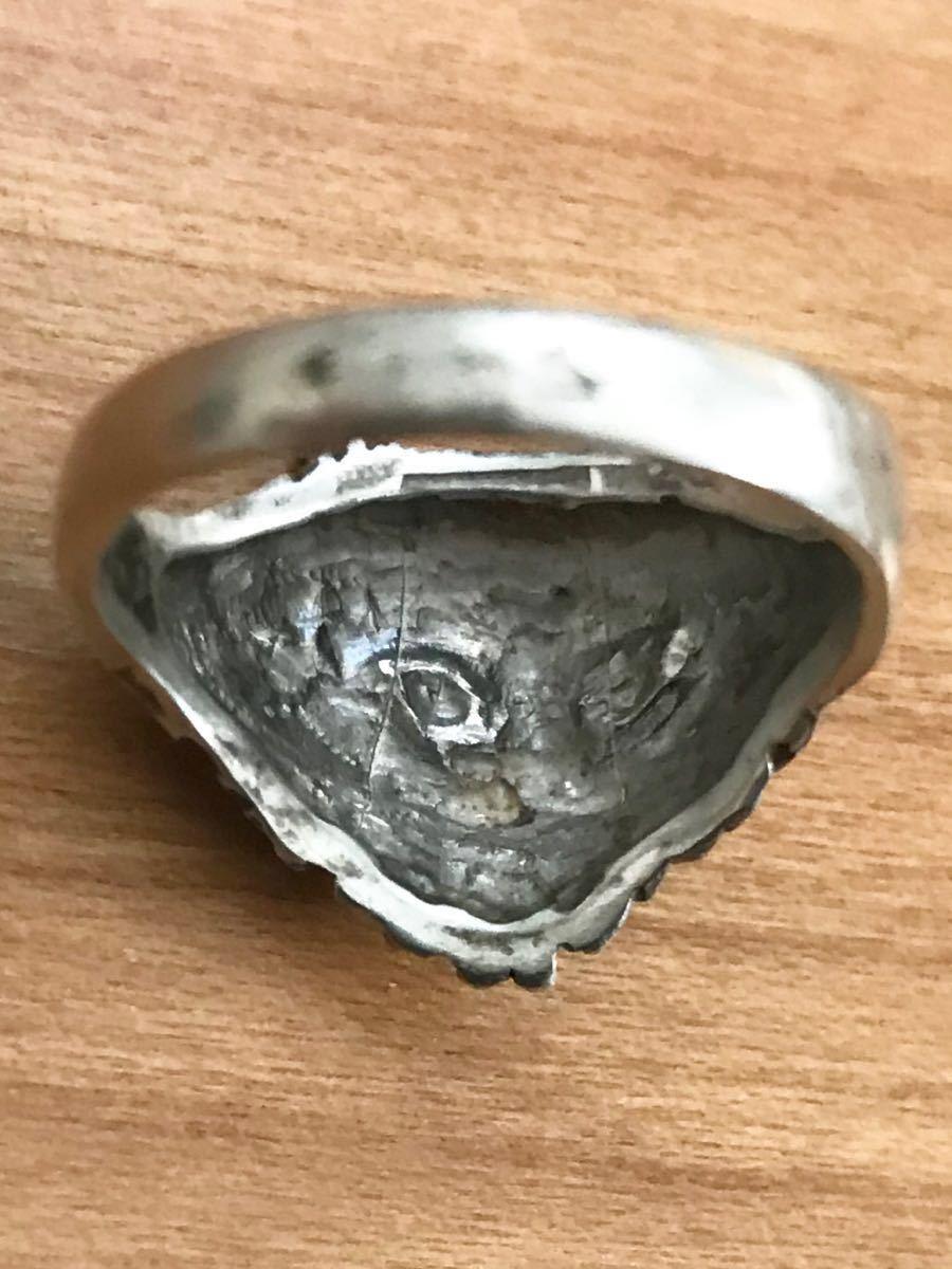 猫 ネコ キャット CAT シャム 動物 アニマル シルバー silver 銀製 925 スターリング ペンダント ネックレス トップ ヘッド リング 指輪_画像8