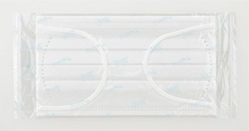 (個別包装) フィッティ 7DAYS マスク 100枚入 ふつうサイズ ホワイト PM2.5対応_画像2