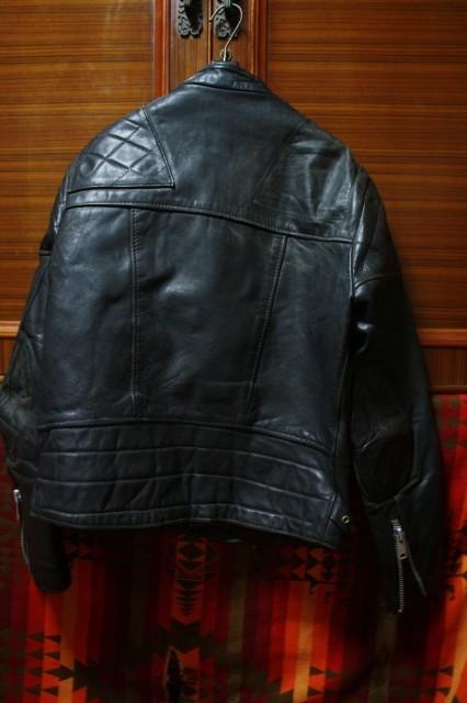 ウルフレザー 希少 プチカスタム イギリス製 70s ビンテージ UK ロンジャン レザー ライダース ジャケット ■ルイスレザー 40s 50s Schott_画像3