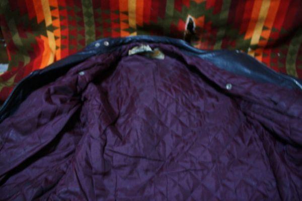 ウルフレザー 希少 プチカスタム イギリス製 70s ビンテージ UK ロンジャン レザー ライダース ジャケット ■ルイスレザー 40s 50s Schott_画像5