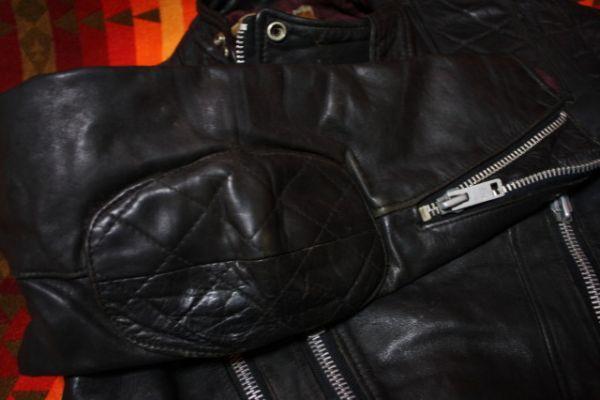 ウルフレザー 希少 プチカスタム イギリス製 70s ビンテージ UK ロンジャン レザー ライダース ジャケット ■ルイスレザー 40s 50s Schott_画像10