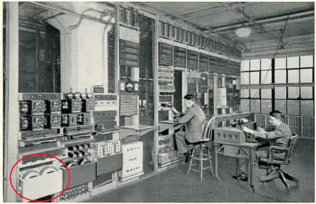 #~【 ウエスタンの最高峰 1910's WE純正単線 】長さ125cm RCAケーブル Western Electric_1931年ベル社(WE)の冊子より
