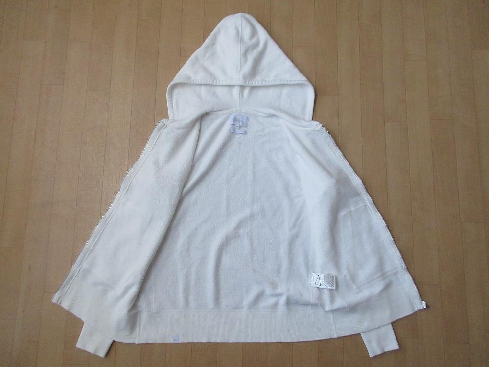 日本製 Pilgrim Surf+Supply Women's Hoodie Sweat フルジップ パーカー 1 ホワイト 白 ピルグリム サーフ サプライ フーディー スウェット_使用感,薄汚れ,色あせ,毛羽立ち等有り