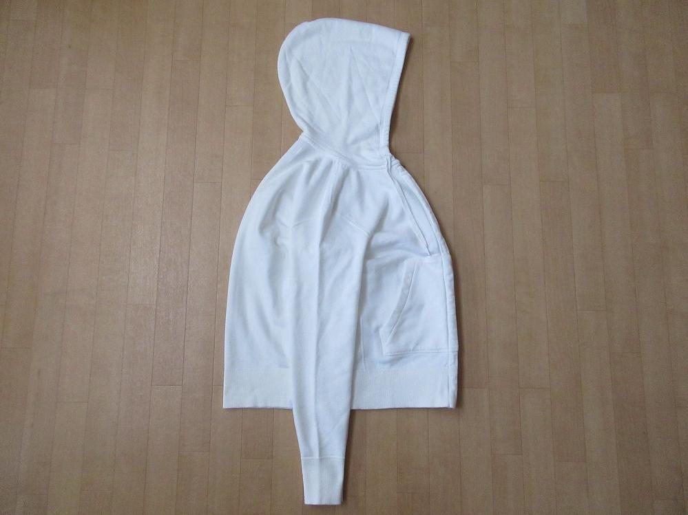 日本製 Pilgrim Surf+Supply Women's Hoodie Sweat フルジップ パーカー 1 ホワイト 白 ピルグリム サーフ サプライ フーディー スウェット_画像4
