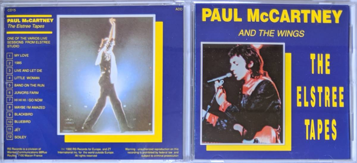 Paul McCartney And The Wings - The Elstree Tapes CD