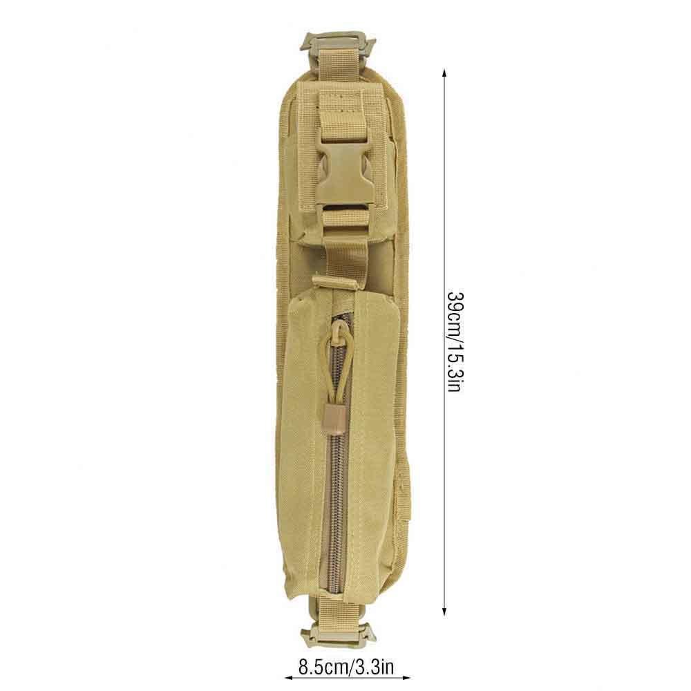 ミリタリー バッグパック タクティカル・アクセサリー ショルダーパッドポーチ モールシステム対応 カラー:タン レア商品_サイズの目安