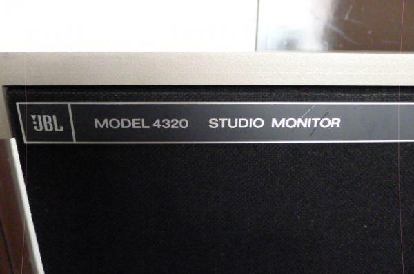 【黒檀堂】大阪市~ JBL スピーカーシステム MODEL 4320/4502 STUDIO MONITOR ペア 動作品/ 直接引取り大歓迎_画像5
