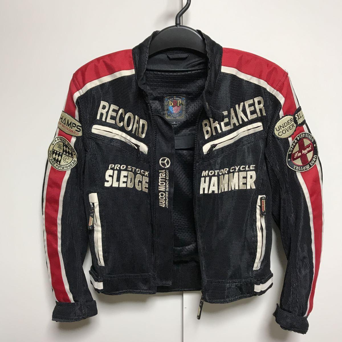 イエローコーン 中綿入り 春夏 メンズM ジャケット YeLLOW CORN バイクウェア バイクジャケット 中古_画像3