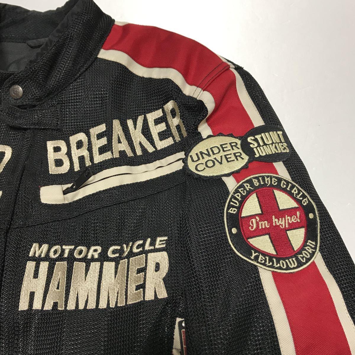 イエローコーン 中綿入り 春夏 メンズM ジャケット YeLLOW CORN バイクウェア バイクジャケット 中古_画像7