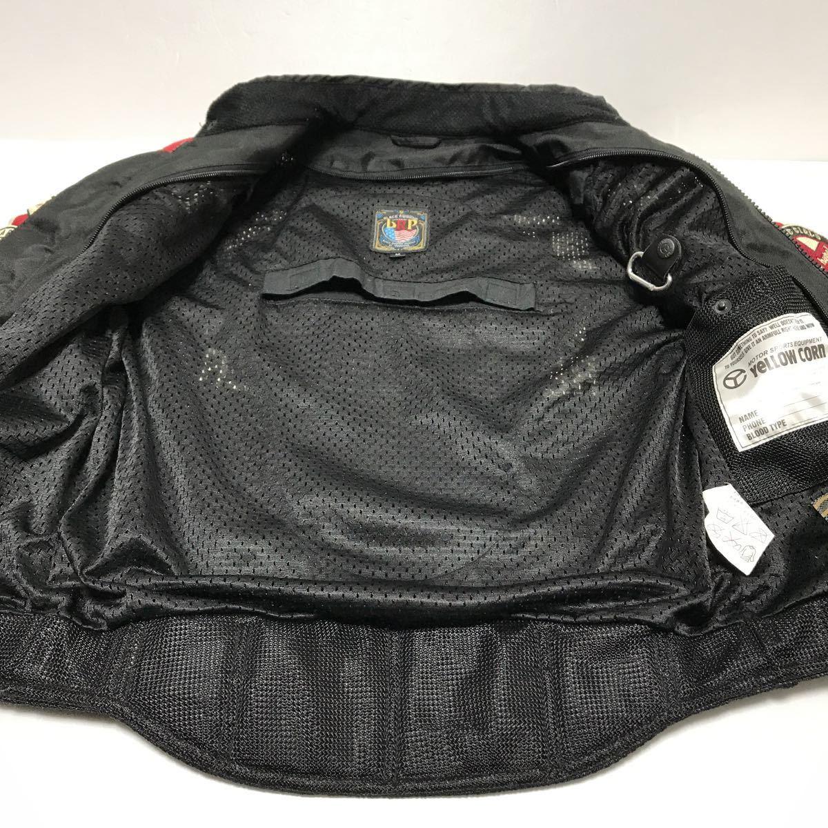 イエローコーン 中綿入り 春夏 メンズM ジャケット YeLLOW CORN バイクウェア バイクジャケット 中古_画像4