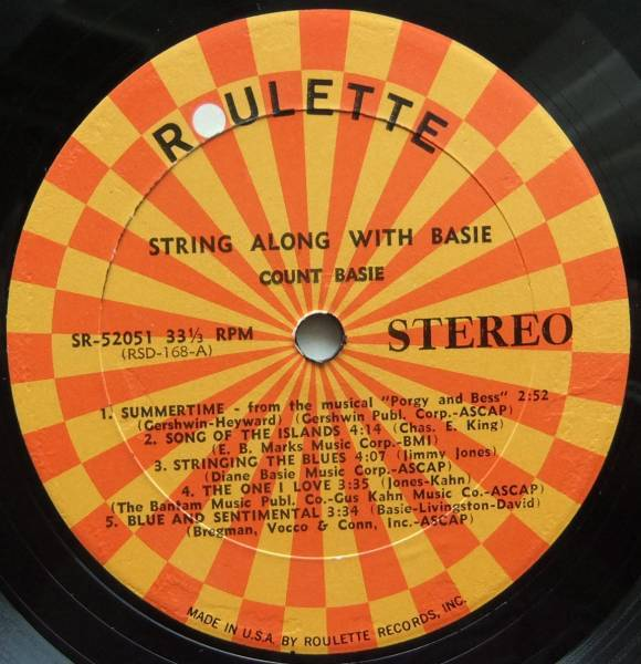 ◆ COUNT BASIE / String Along With Basie ◆ Roulette SR-52051 ◆ W_画像3