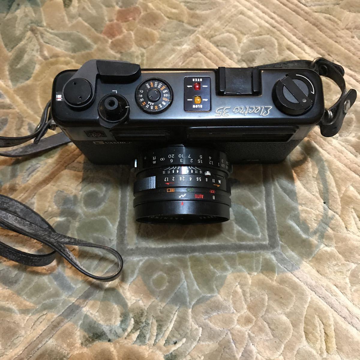 Yashica Electro 35 GT ブラック ヤシカ エレクトロ 35 レンジファインダー 一眼レフ フィルムカメラ_画像5