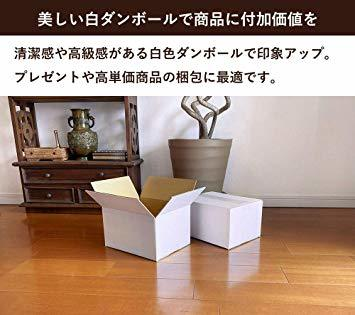 ボックスバンク ダンボール(段ボール箱)60サイズ 白 5枚セット 引越し・収納 FW08-0001_画像3
