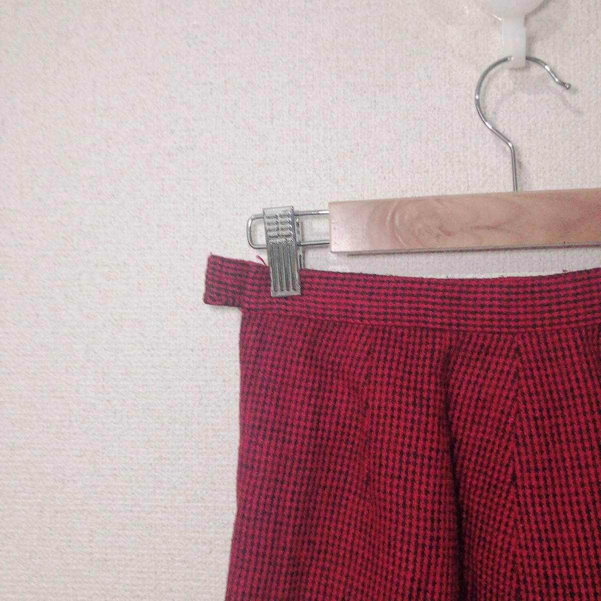 ハンドメイド スカート オリジナル フリーサイズ 赤