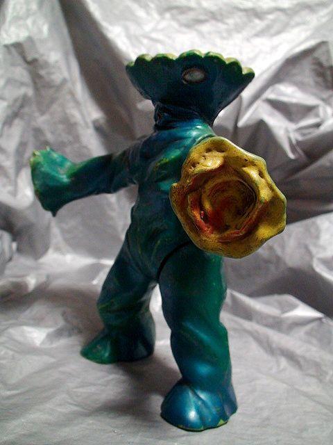 キャプテンウルトラb29-1当時物 マルサン 怪獣 ソフビ バンデル星人 1967年「検 宇宙特撮 シュピーゲル号 ブルマァク 光速エスパー_画像9