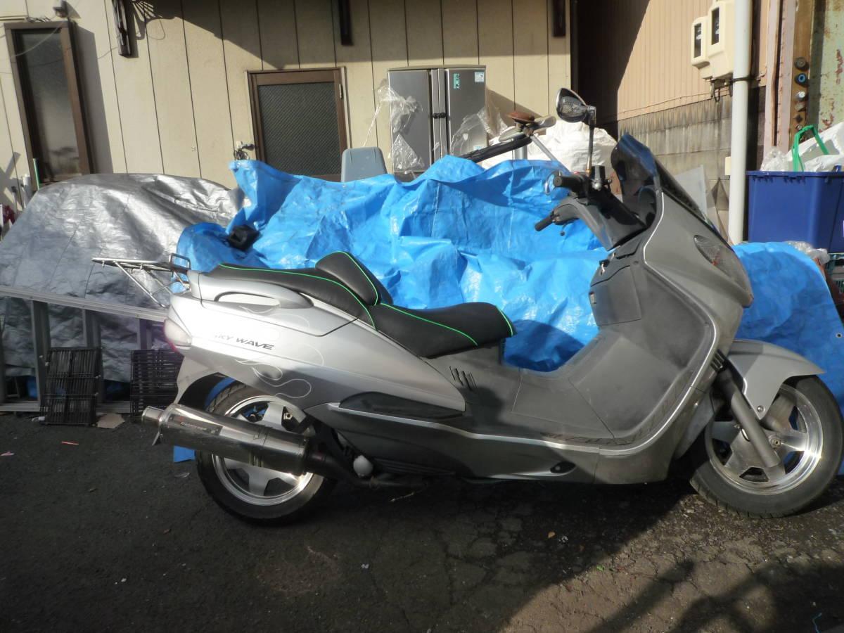 「SUZUKI SKY WAVE 250cc CJ41A シルバー 32,040km 稼働 12-19-1T 岐阜」の画像3