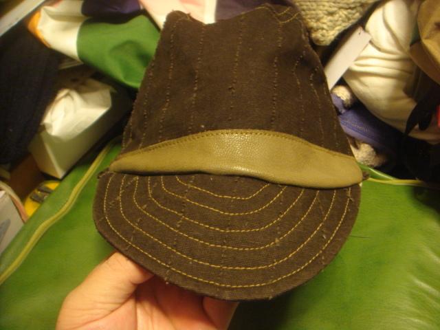 1605カシラCA4LA帆布キャンバス皮革レザー切替 折り返しWORKワークキャップCAP/HATハット帽子L_画像5