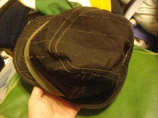 1605カシラCA4LA帆布キャンバス皮革レザー切替 折り返しWORKワークキャップCAP/HATハット帽子L_画像7