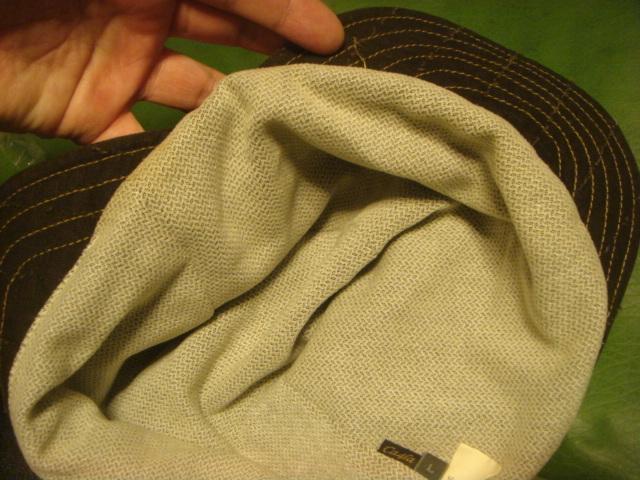 1605カシラCA4LA帆布キャンバス皮革レザー切替 折り返しWORKワークキャップCAP/HATハット帽子L_画像10
