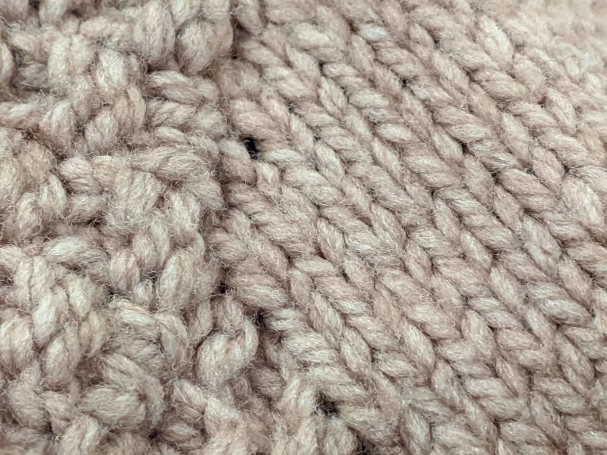 フランスヴィンテージ70's手編みコート/ニットコートウール60'sレトロヨーロッパフレンチ古着ΓLT_画像7