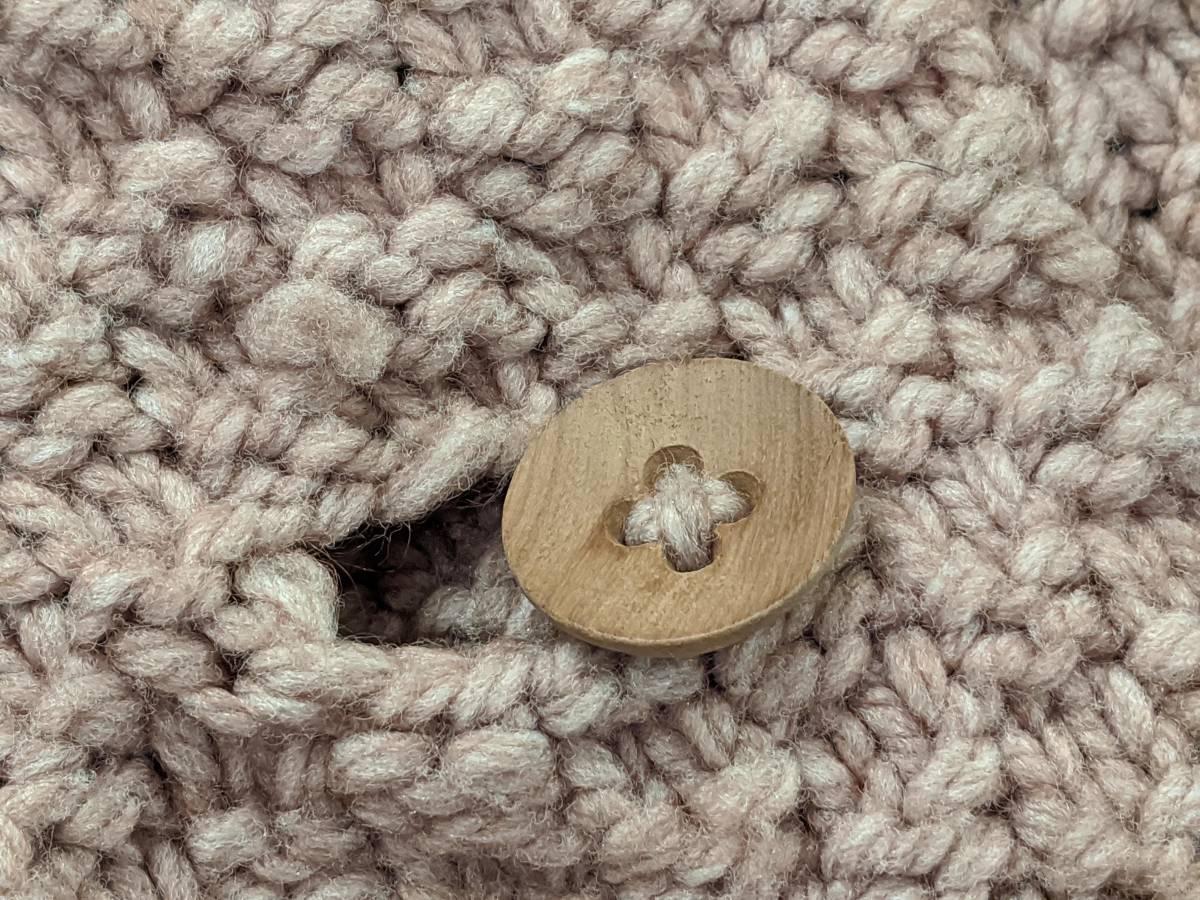 フランスヴィンテージ70's手編みコート/ニットコートウール60'sレトロヨーロッパフレンチ古着ΓLT_画像6