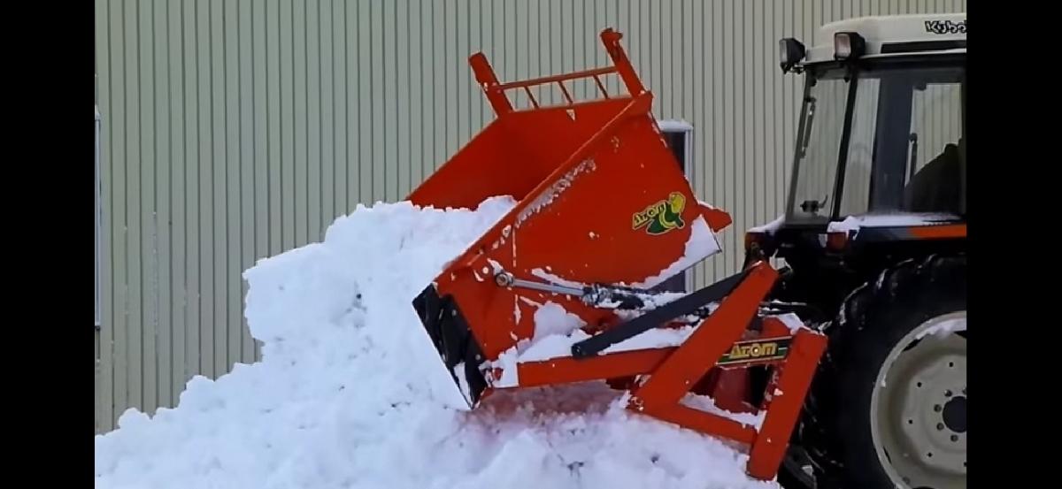 アトム農機 油圧バケット20F-1!除雪に!スノーブロワー トラクター 除雪機 除雪車 北海道札幌近郊より_画像6