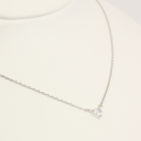 【ジュエリー】ダイヤモンドネックレス/Pt850/ハートシェイプ/40cm/アクセサリー/レディース_画像2
