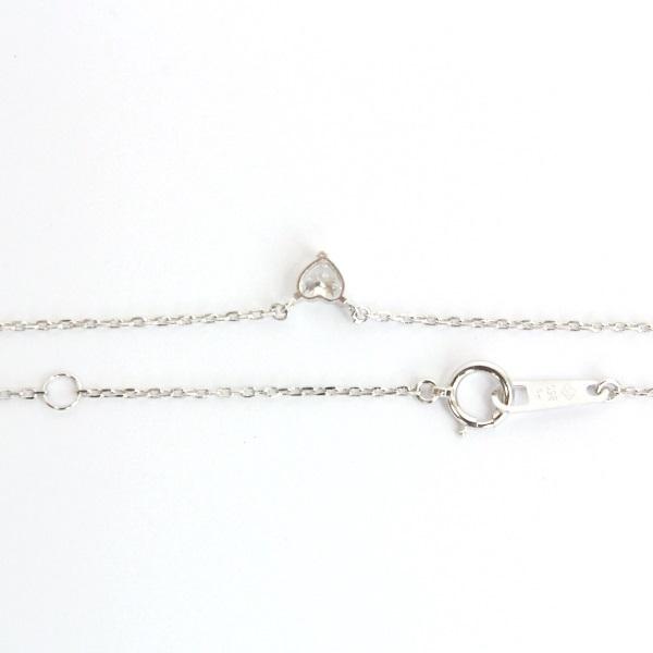 【ジュエリー】ダイヤモンドネックレス/Pt850/ハートシェイプ/40cm/アクセサリー/レディース_画像3