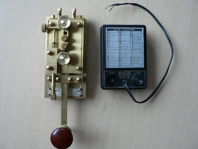 HI MOUND ハイモンド電鍵 HK-804 CW練習機 COK-2 完動品