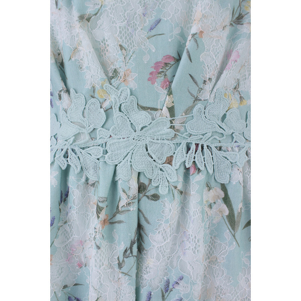 新品【Rose Tiaraローズティアラ】オパールレースフラワープリント ワンピース 42 15号 大きいサイズ_色違いです。デザインのご参考に。