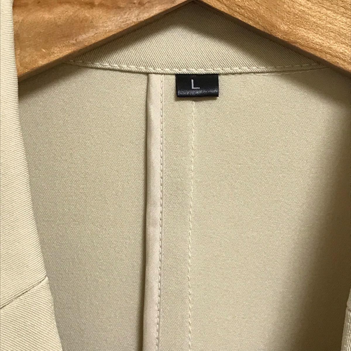 ジャケット ベージュ Lサイズ 未使用 レディース  テーラードジャケット