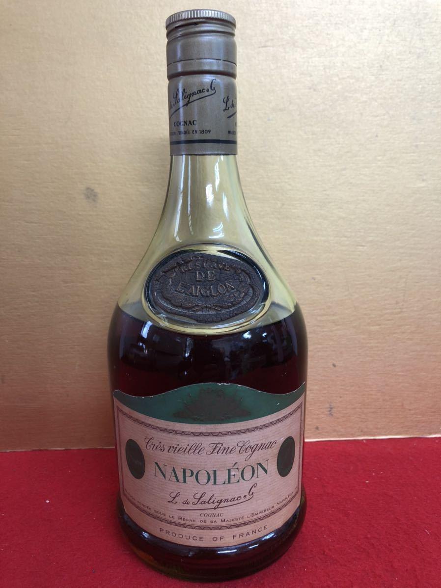 【K-869】古酒 RESERVE DE L'AIGLON リザーブ ド レグロン サリニャック ナポレオン グリーンボトル 700ml 40% コニャック 難有り