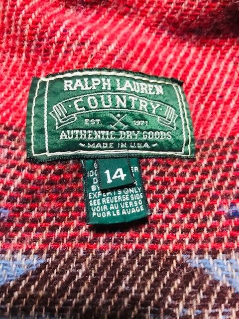 POLO COUNTRY ポロカントリー ハンドペイント ショールカラー ディアスキン ジャケット ネイティブ柄 インディアン RRL ラルフローレン_画像3