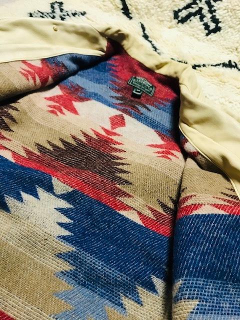 POLO COUNTRY ポロカントリー ハンドペイント ショールカラー ディアスキン ジャケット ネイティブ柄 インディアン RRL ラルフローレン_画像4