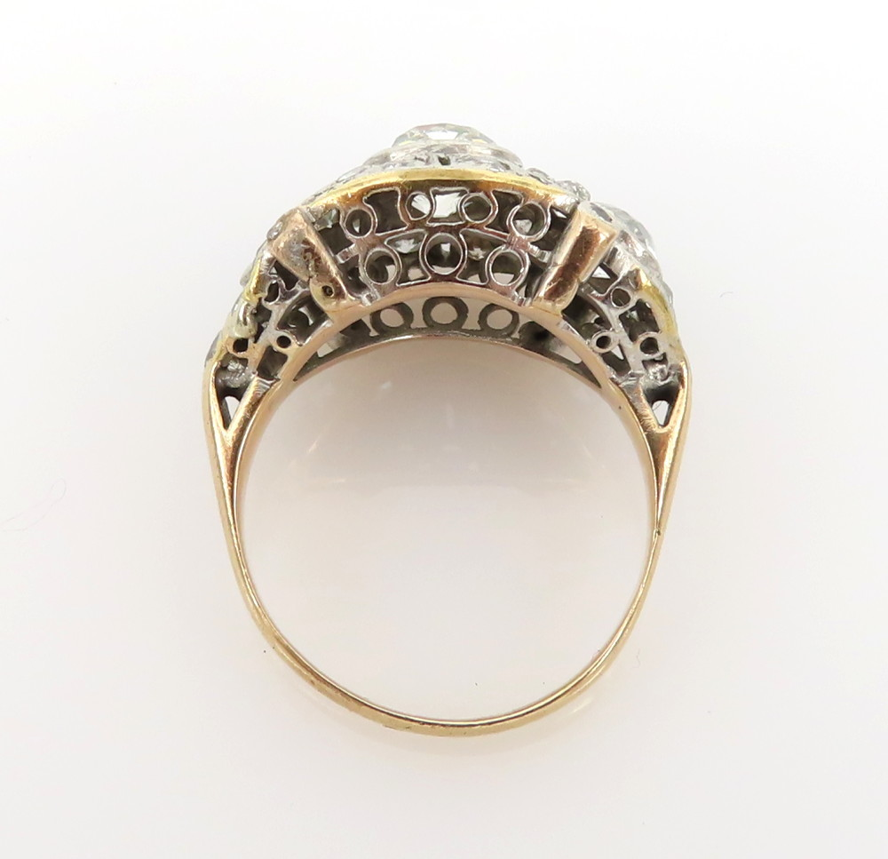 ◆アンティーク◆2.80ct オールドマインカット ダイヤモンド◆【プラチナ イエローゴールド】《リング 指輪》_画像6