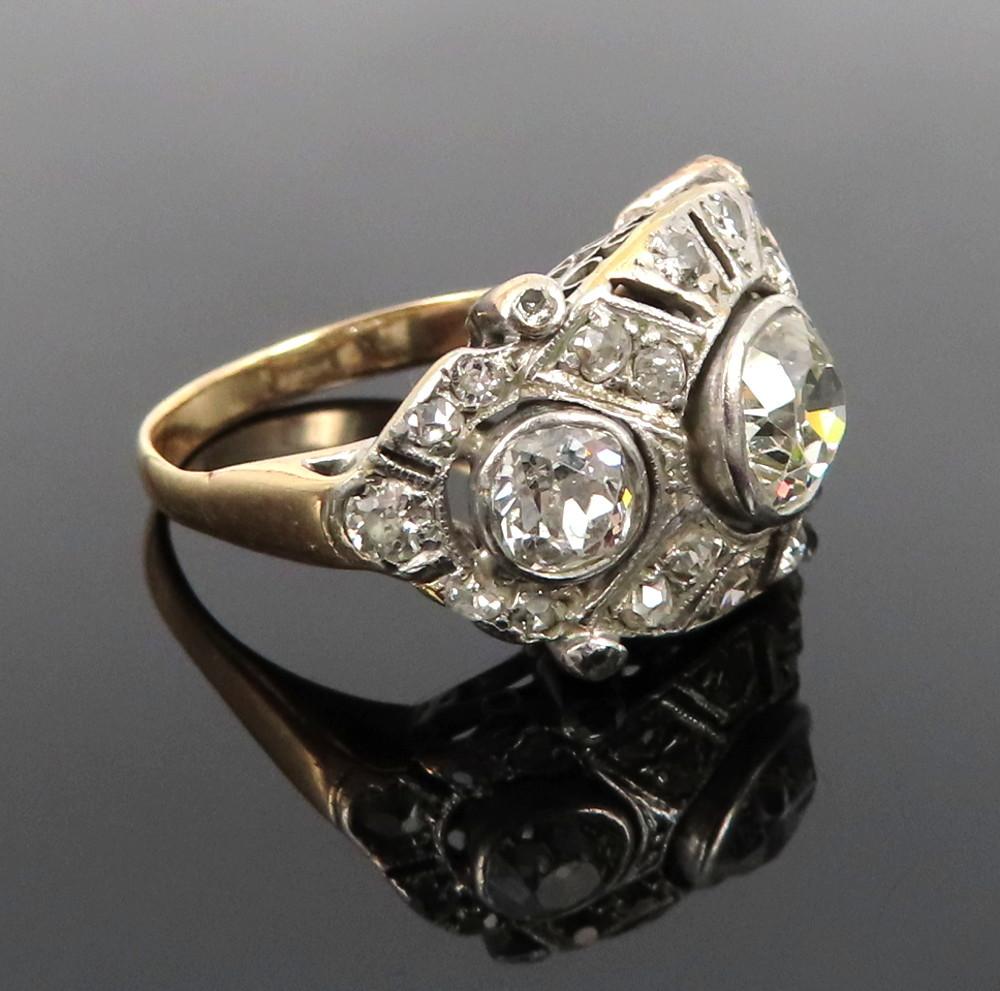 ◆アンティーク◆2.80ct オールドマインカット ダイヤモンド◆【プラチナ イエローゴールド】《リング 指輪》_画像2