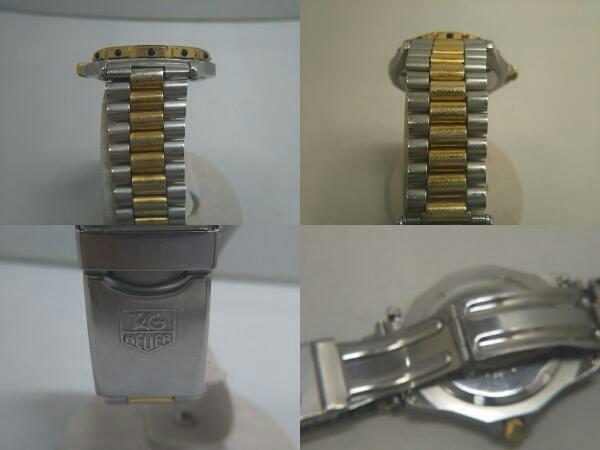 TAG HEUER タグホイヤー プロフェッショナル 934 206 デイト ゴールド 腕時計 クォーツ 電池式 ステンレスベルト メンズ_画像5