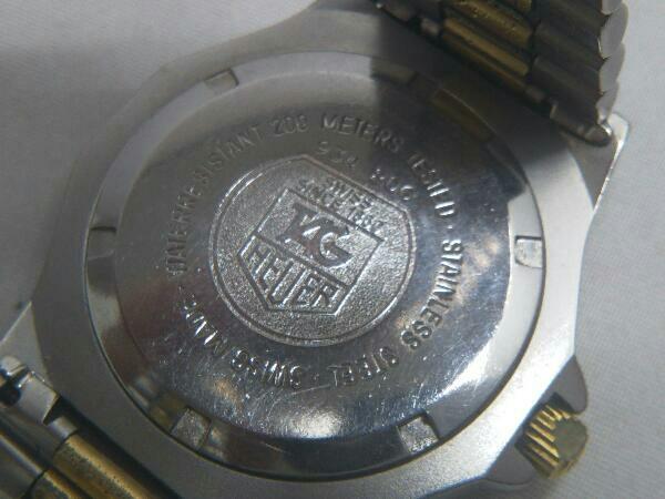 TAG HEUER タグホイヤー プロフェッショナル 934 206 デイト ゴールド 腕時計 クォーツ 電池式 ステンレスベルト メンズ_画像6