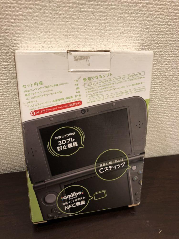 Newニンテンドー3DS LL ライムブラック 任天堂 ●美品●Nintendo ともだちコレクション ソフト付き _画像2
