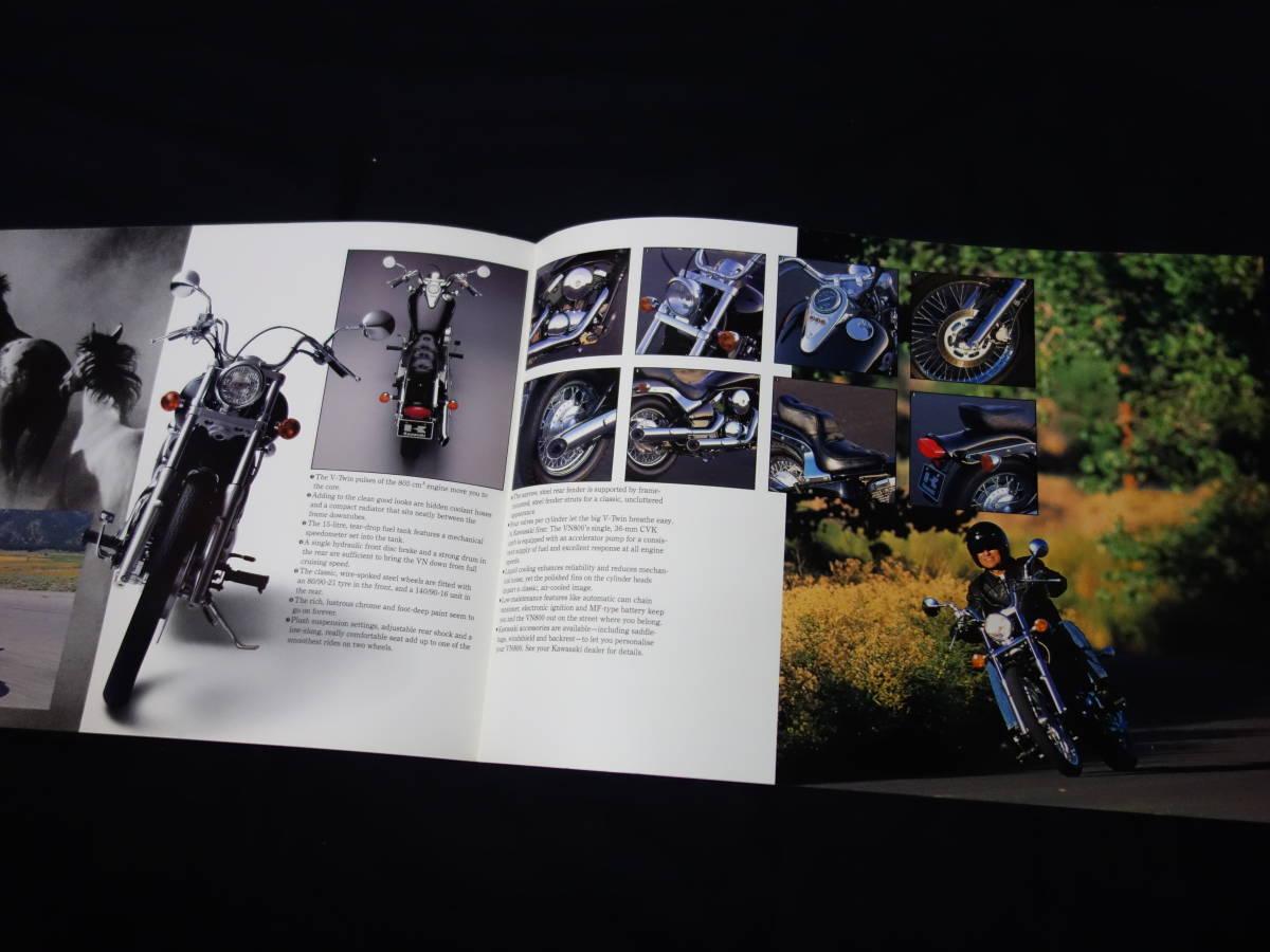 【¥600 即決】カワサキ VN800 VN800-A型 専用カタログ 英語版 1994年 【輸出仕様】_画像5