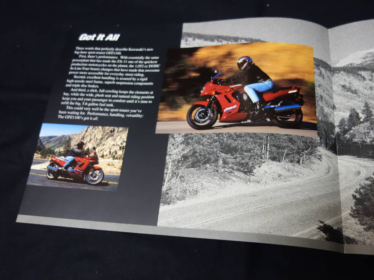【¥600 即決】カワサキ GPZ1100 ZX1100-E型 専用カタログ 北米仕様 英語版 1995年 【輸出仕様】_画像3