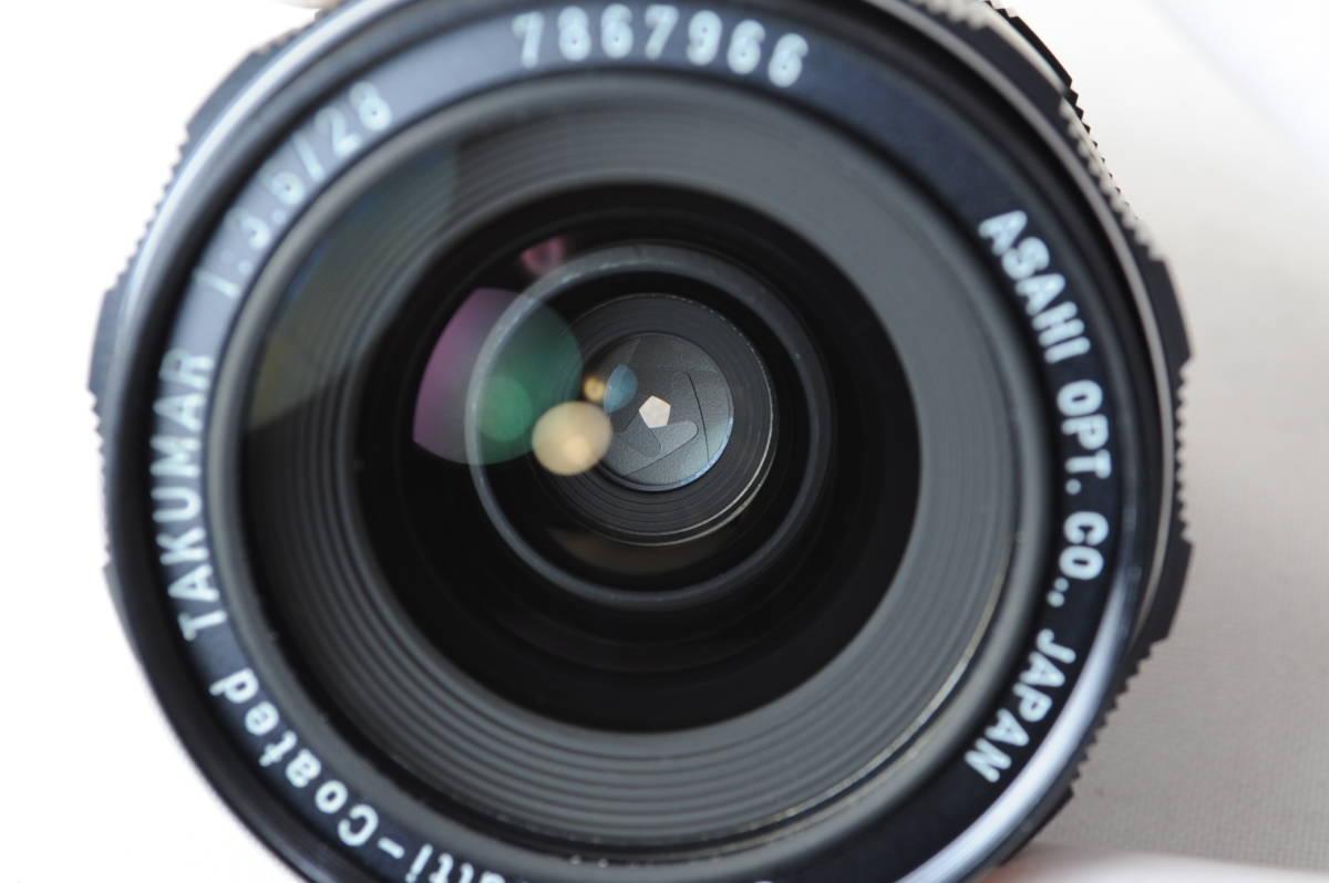 【ecoま】ペンタックス Super-Multi-Coated TAKUMAR 28mm F3.5 no.7867966 M42マウント 広角マニュアルレンズ_画像7