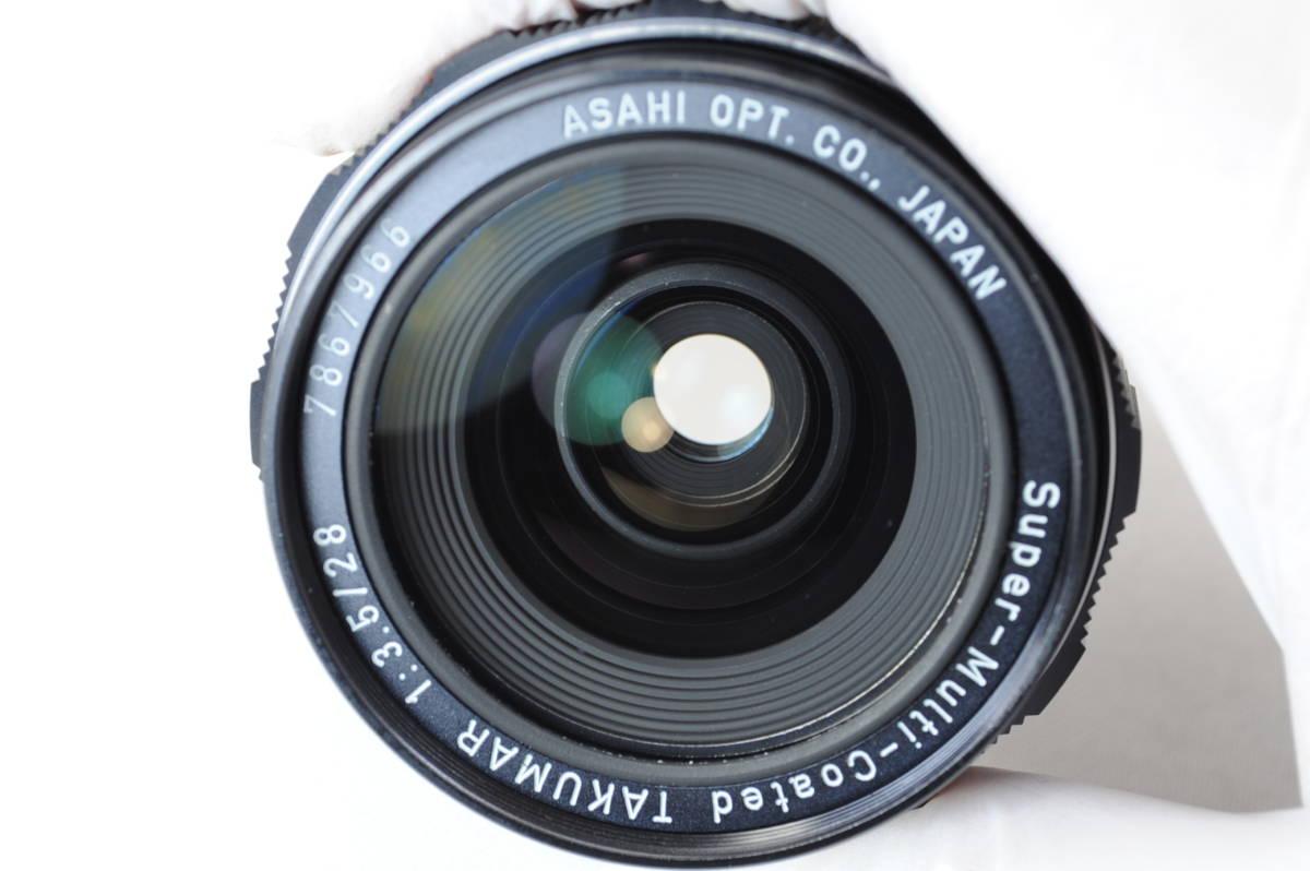 【ecoま】ペンタックス Super-Multi-Coated TAKUMAR 28mm F3.5 no.7867966 M42マウント 広角マニュアルレンズ_画像6