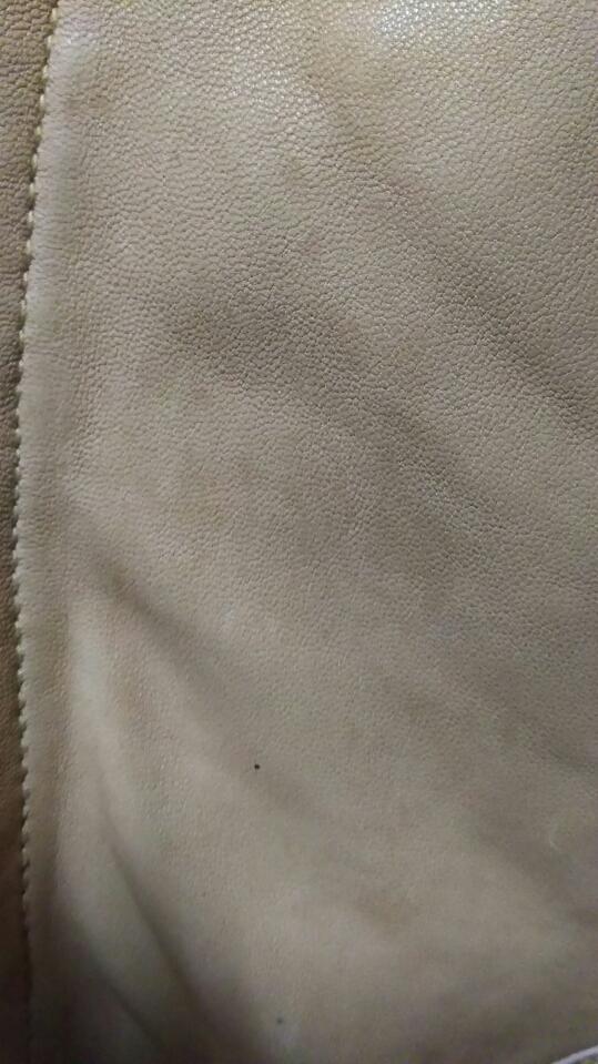 お洒落!! 細身 ◆ BEAMS ビームス ◆ 上質 高級 本革 羊革 レザージャケット ライダース ベージュ サイズ/S タイト ダブルジップ レーヨン _画像6