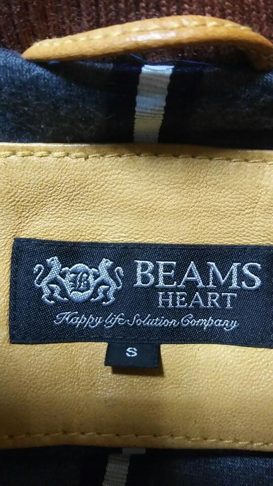 お洒落!! 細身 ◆ BEAMS ビームス ◆ 上質 高級 本革 羊革 レザージャケット ライダース ベージュ サイズ/S タイト ダブルジップ レーヨン _画像8