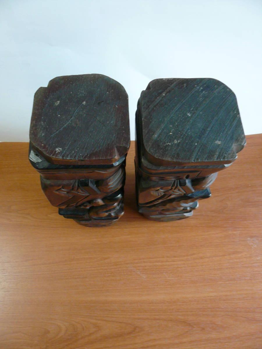 アイヌ人形 木彫り 夫婦 民芸品 お土産 置物 飾り物 レトロ _画像7