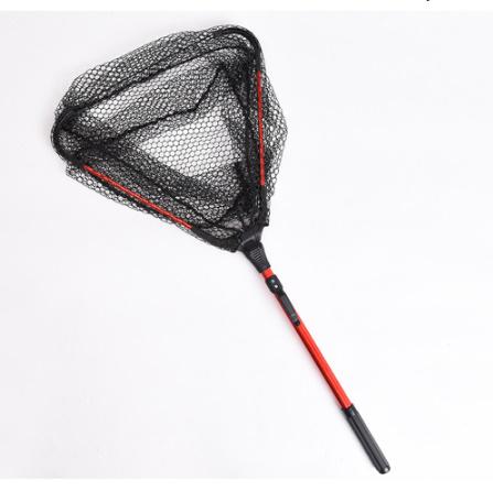 アルミ合金 80㎝ 格納式漁網伸縮式折りたたみためネット 磁極折りたたみランディングネット タモ k-1665_画像5