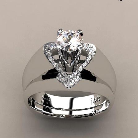 ヴィンテージローズゴールド 結婚指輪女性 ファッションジュエリーラグジュアリー ホワイトジルコン婚約指輪 k-1366_画像6
